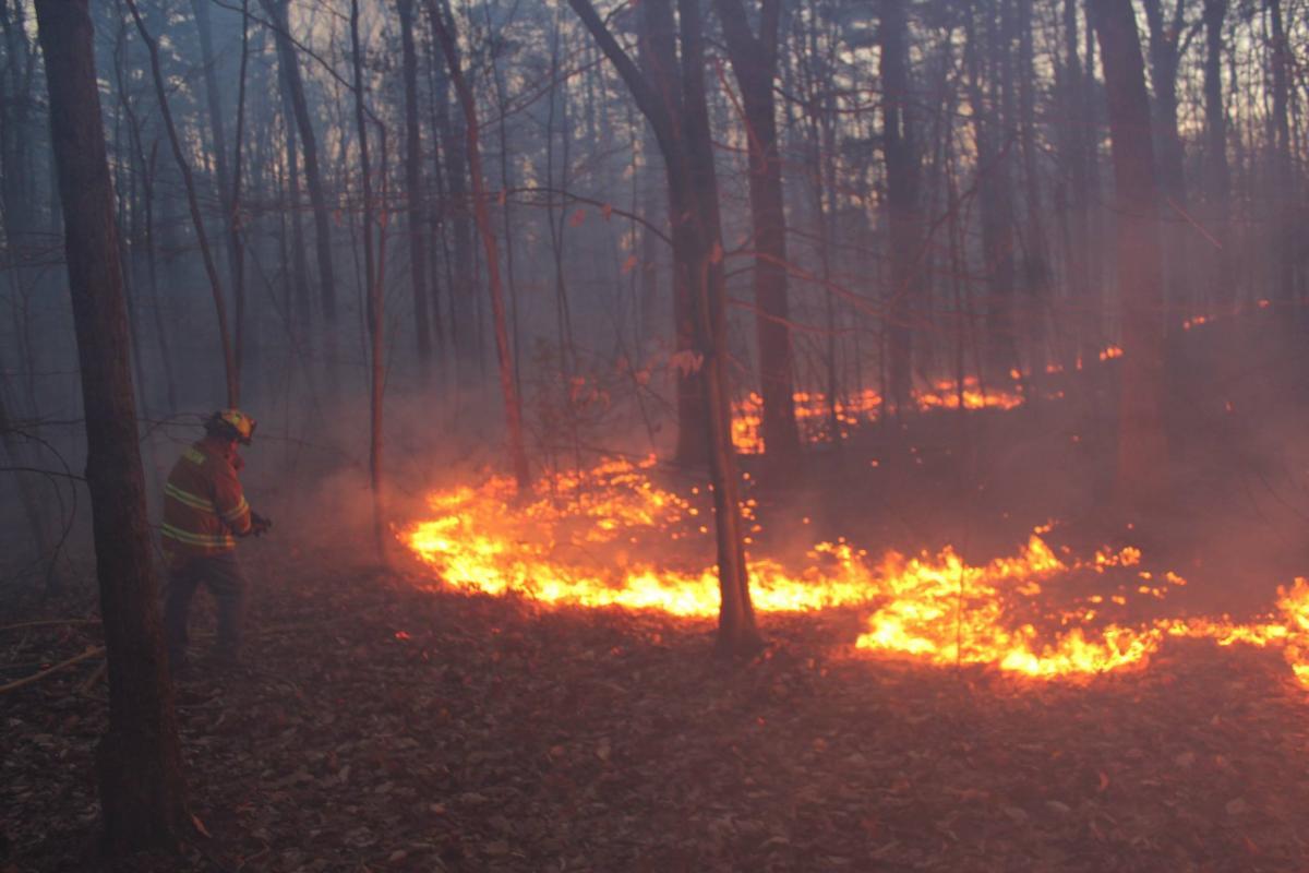 2017: Major brush fire on Nason Hill Road
