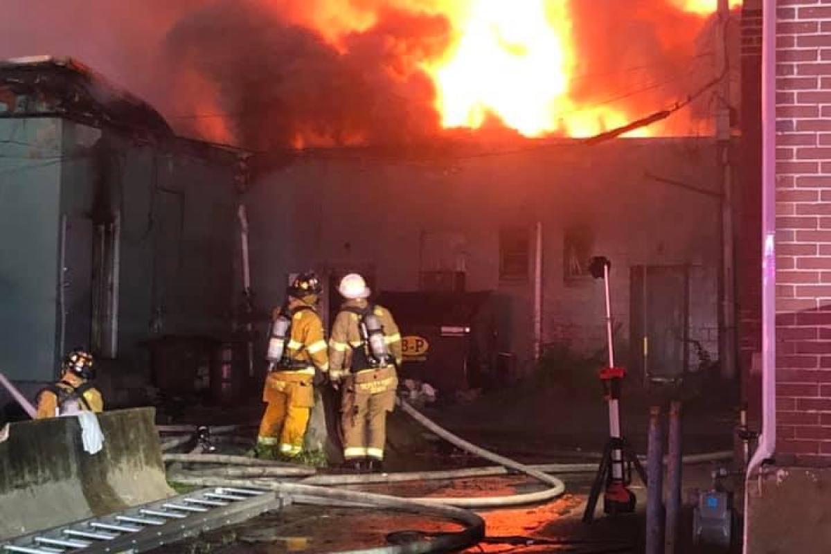 2019: Sherborn Firefighters battling 8-alarm fire in Natick Center